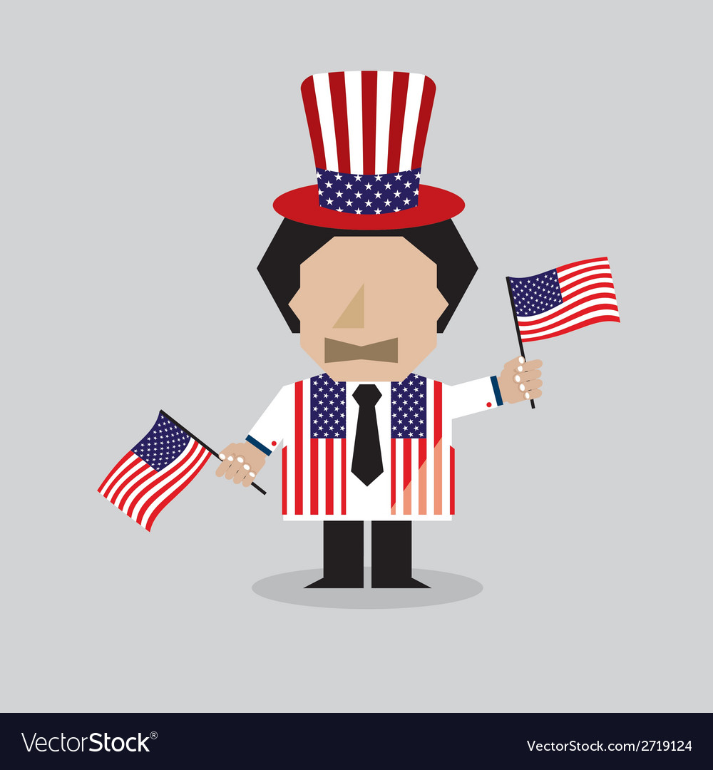 American man vector | Price: 1 Credit (USD $1)