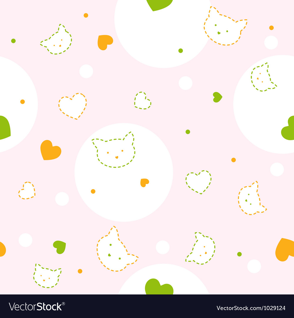 Baby kitty pattern vector | Price: 1 Credit (USD $1)