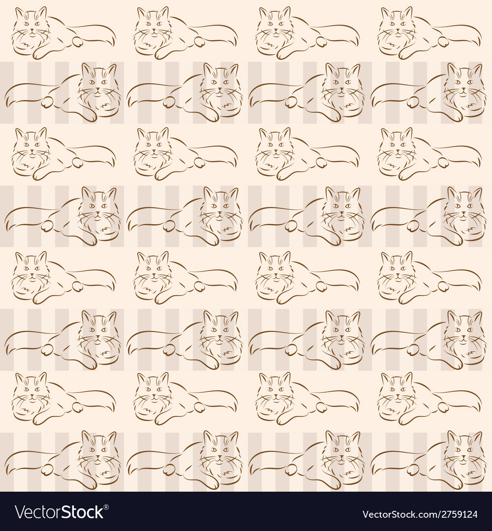 Background with cats vector | Price: 1 Credit (USD $1)