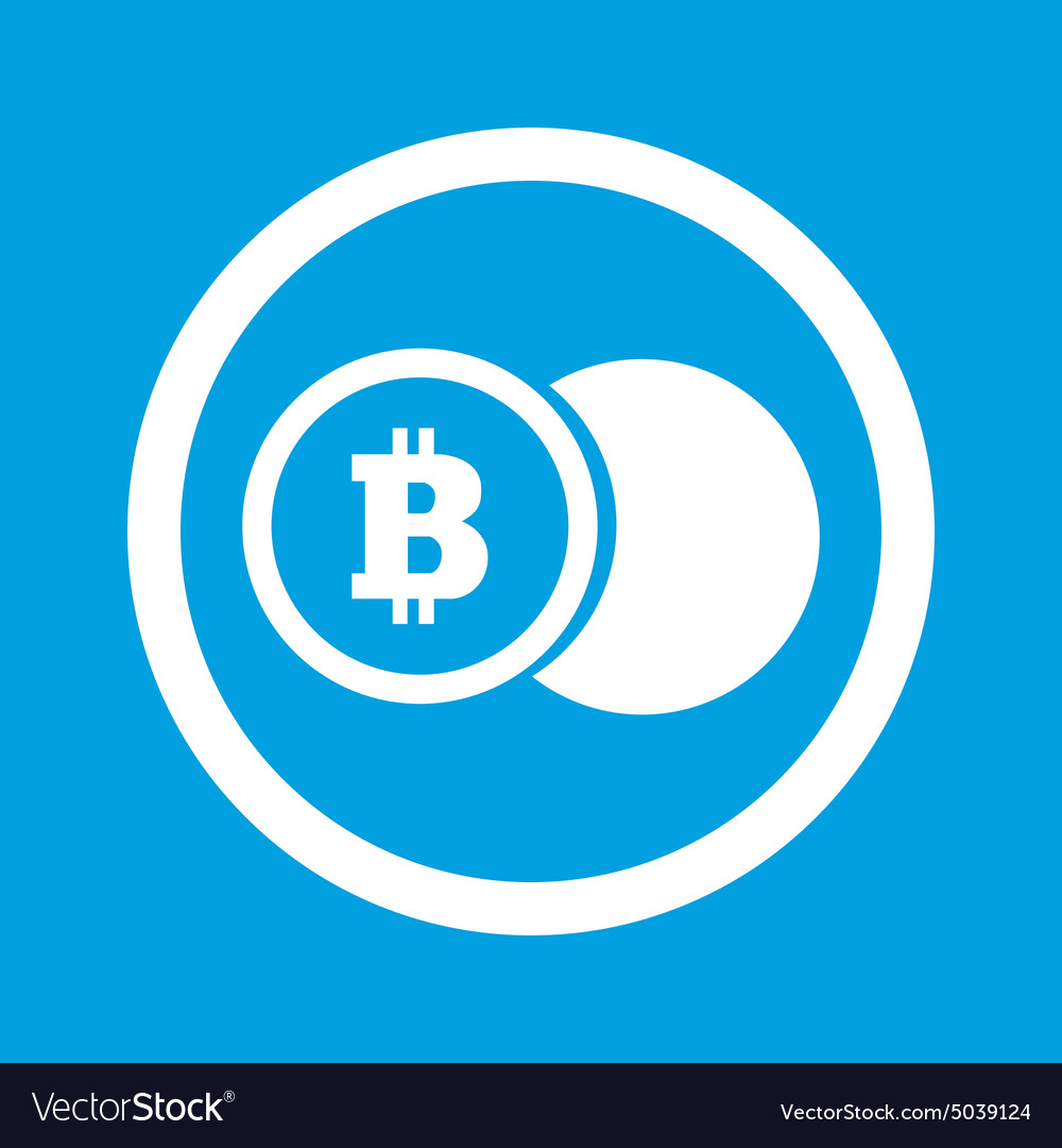 Bitcoin coin sign icon vector