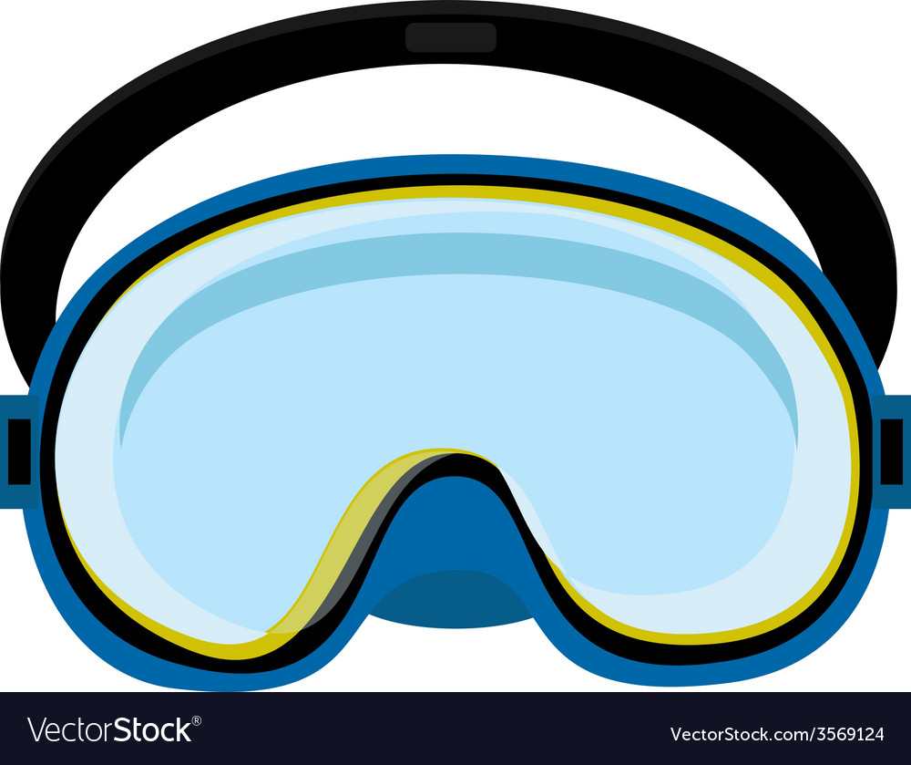 Blue diving mask vector | Price: 1 Credit (USD $1)