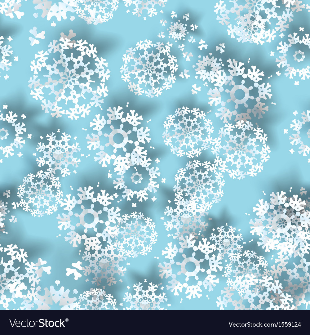 Blue with paper christmas snowflakes vector | Price: 1 Credit (USD $1)