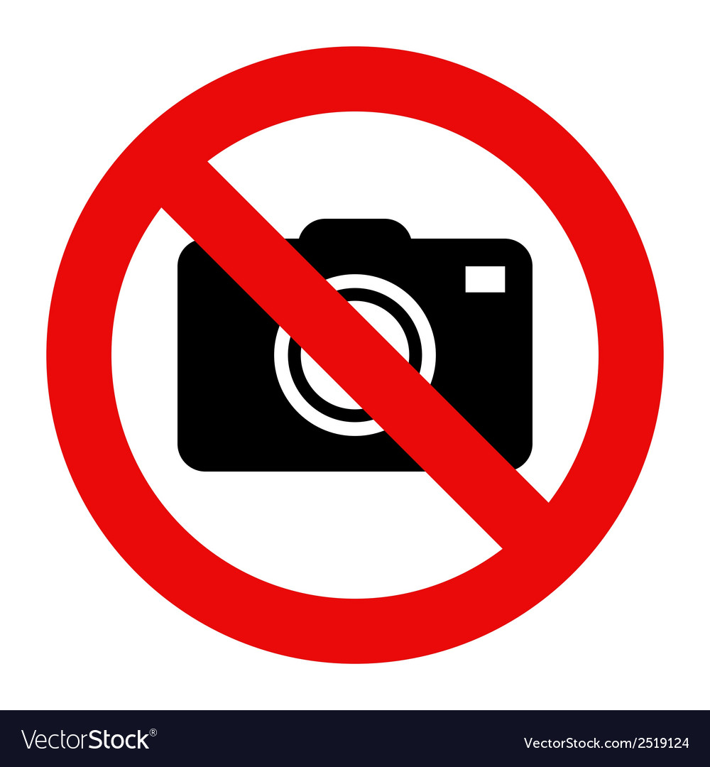 Cameras prohibited sign vector | Price: 1 Credit (USD $1)