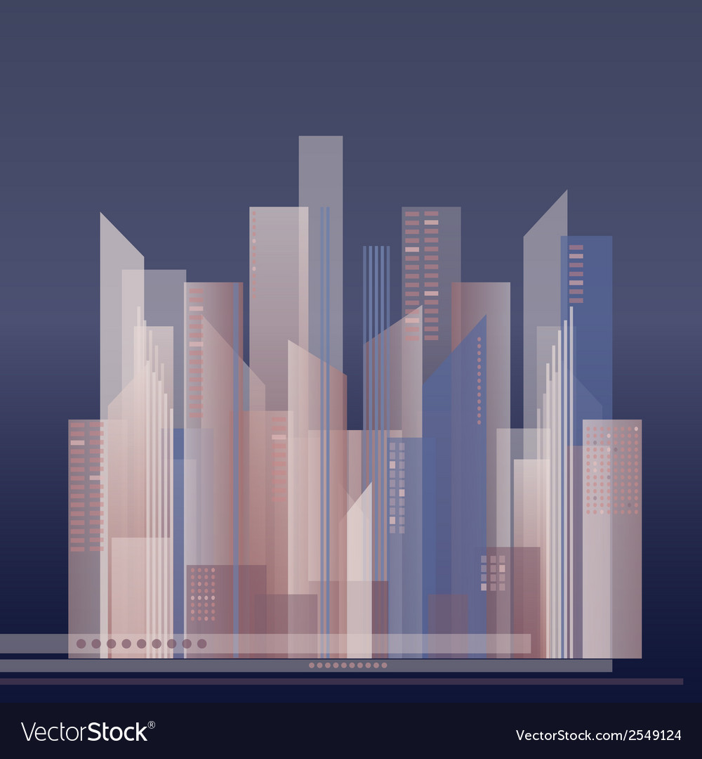 Colorful of abstract city vector | Price: 1 Credit (USD $1)