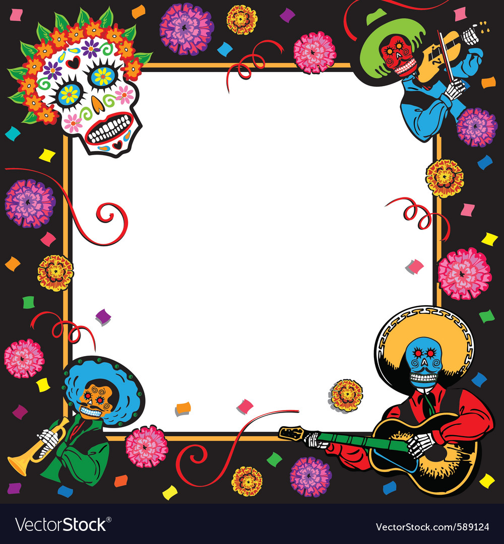 Day of the dead party invitation vector | Price: 3 Credit (USD $3)