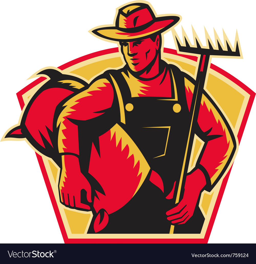 Farmer agricultural worker vector | Price: 1 Credit (USD $1)