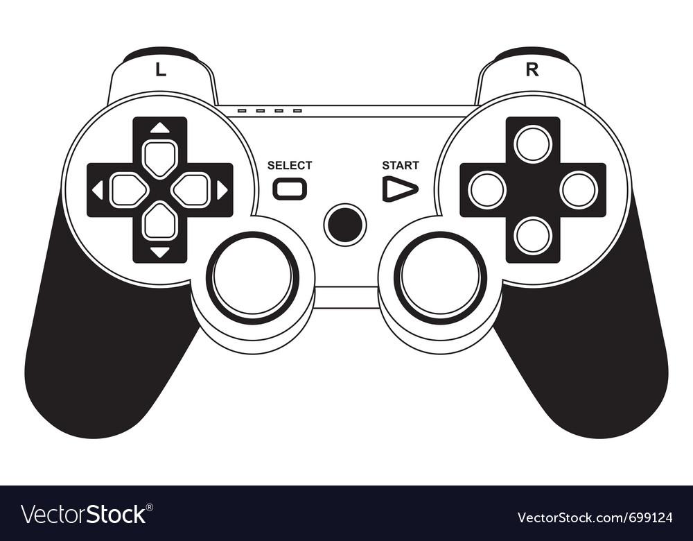 Gamepad joystick vector | Price: 1 Credit (USD $1)