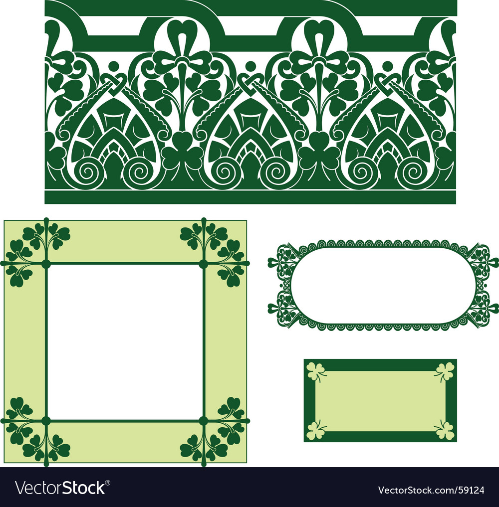 Irish border vector | Price: 1 Credit (USD $1)
