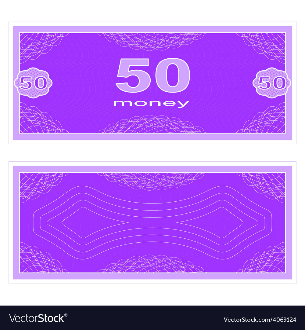 Play money fifty vector | Price: 1 Credit (USD $1)