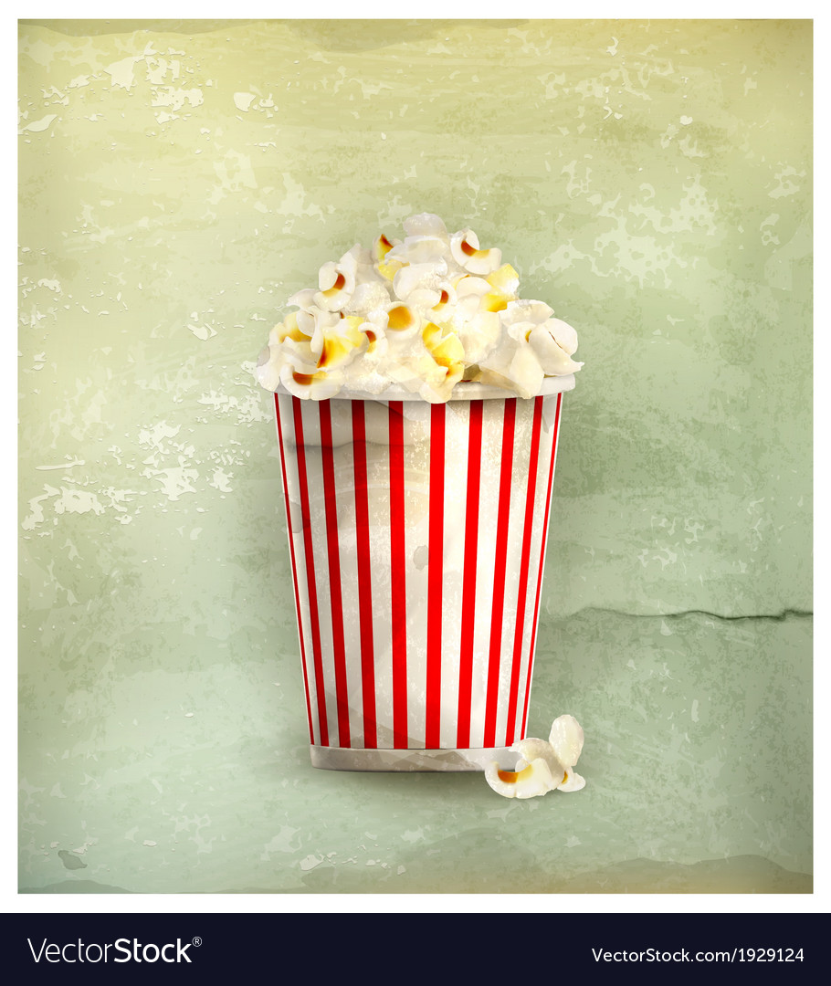 Popcorn old-style vector | Price: 1 Credit (USD $1)