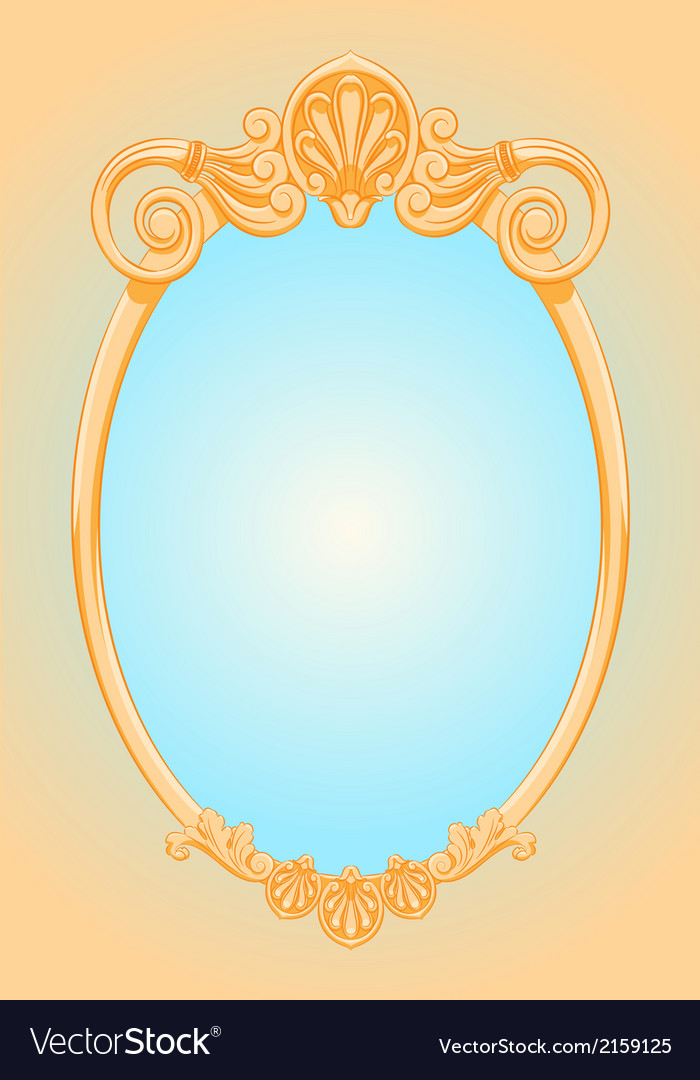 Beautiful ornate ellipse frame vector | Price: 1 Credit (USD $1)