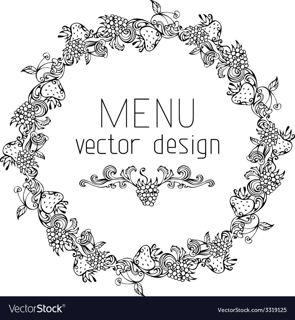 Circle menu design vector | Price: 1 Credit (USD $1)
