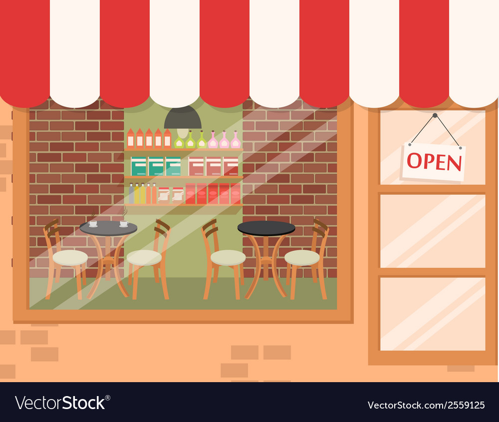 Coffee shop background vector | Price: 1 Credit (USD $1)