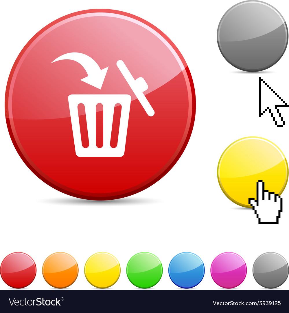 Delete glossy button vector | Price: 1 Credit (USD $1)