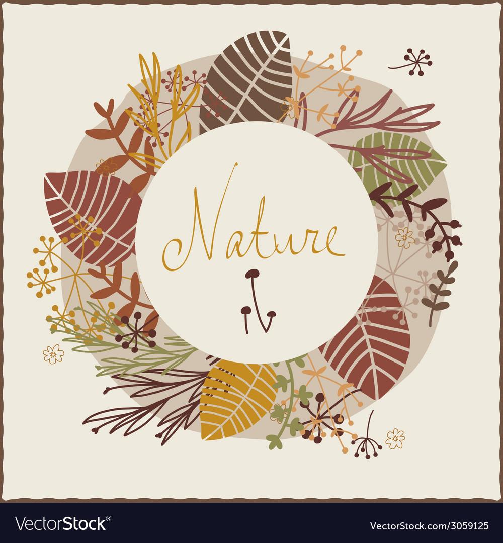 Floral autumn design vector | Price: 1 Credit (USD $1)