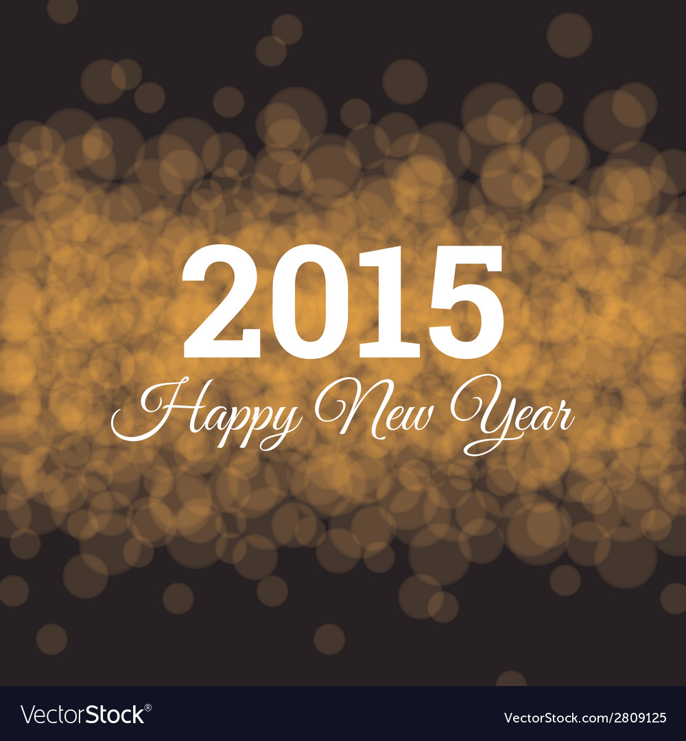 Happy new year 2015 card light background vector | Price: 1 Credit (USD $1)