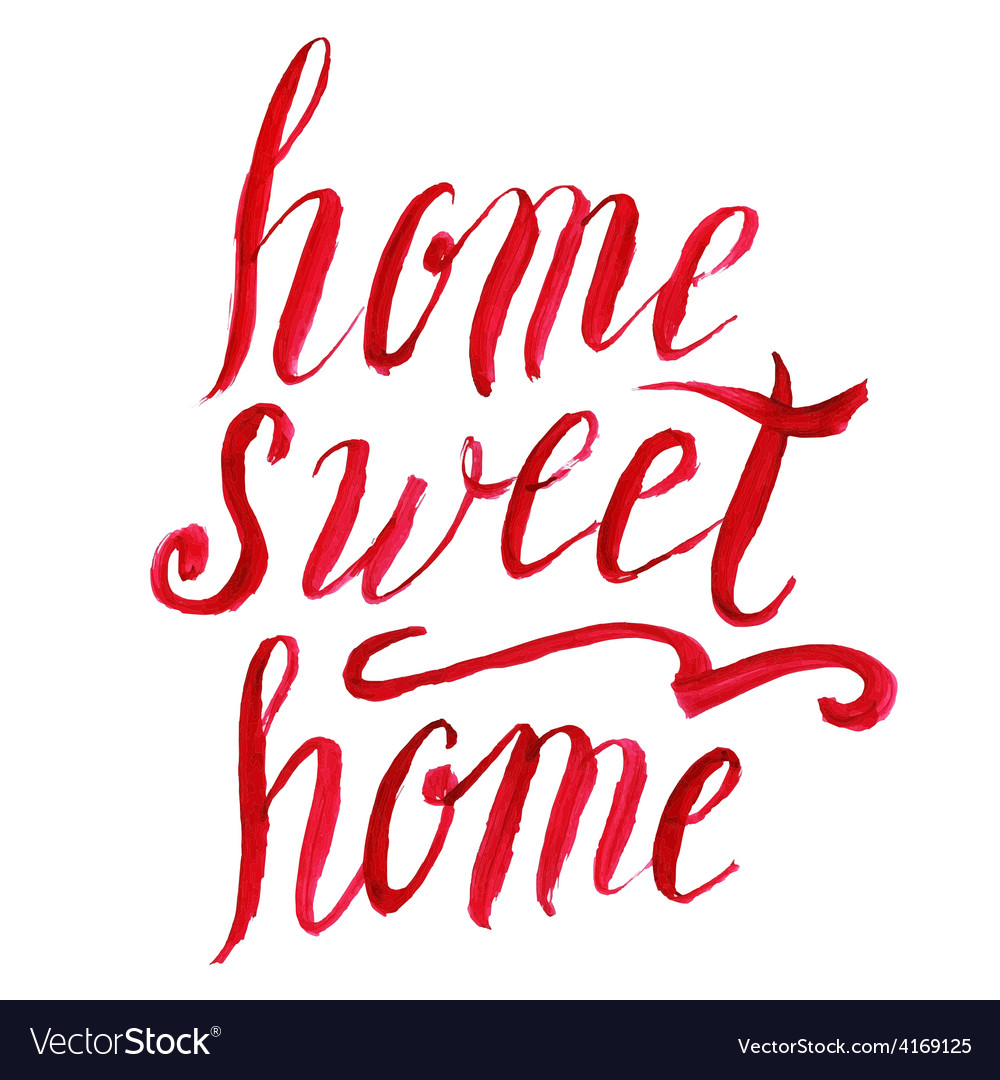 Home sweet home lettering watercolor vector | Price: 1 Credit (USD $1)