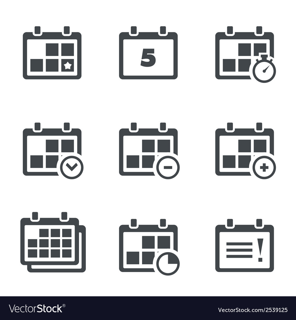 Icon calendar with notes vector | Price: 1 Credit (USD $1)