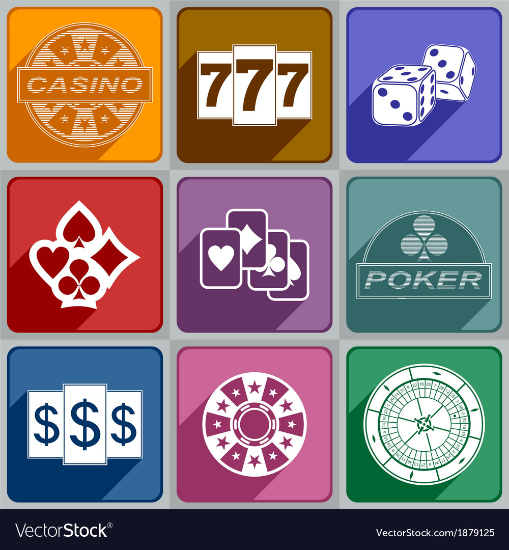 Icons casino vector | Price: 1 Credit (USD $1)