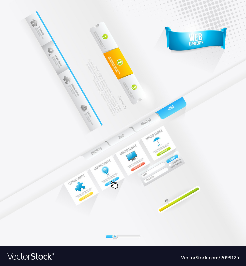 Infographics and web design elements vector | Price: 1 Credit (USD $1)