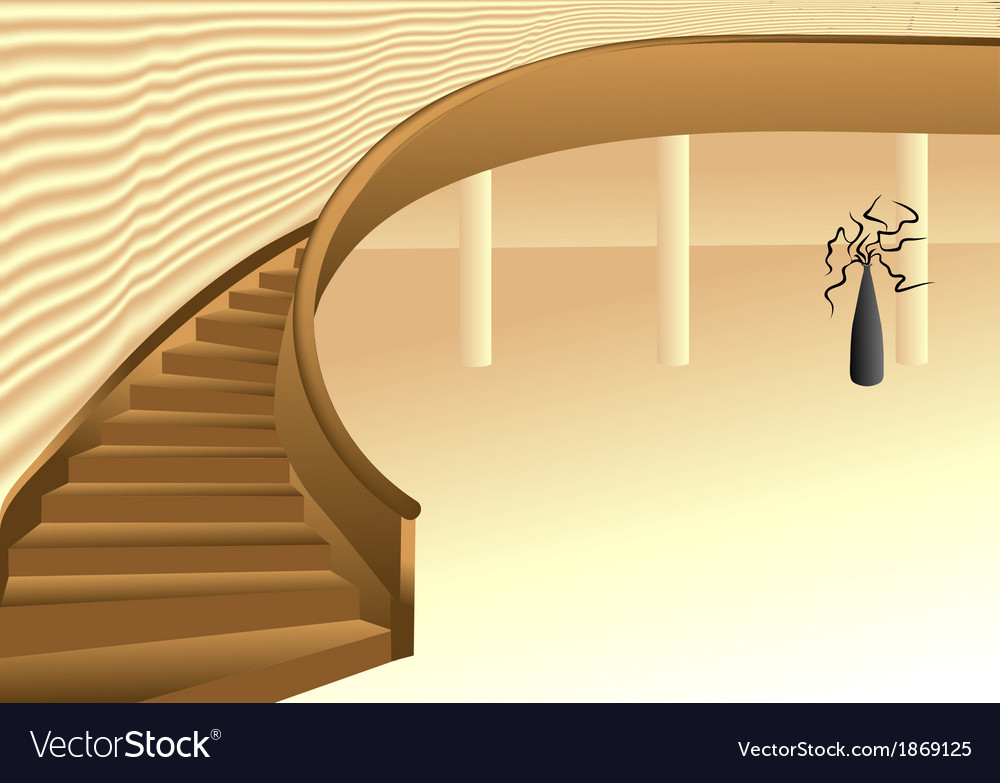Interior hall design vector | Price: 1 Credit (USD $1)