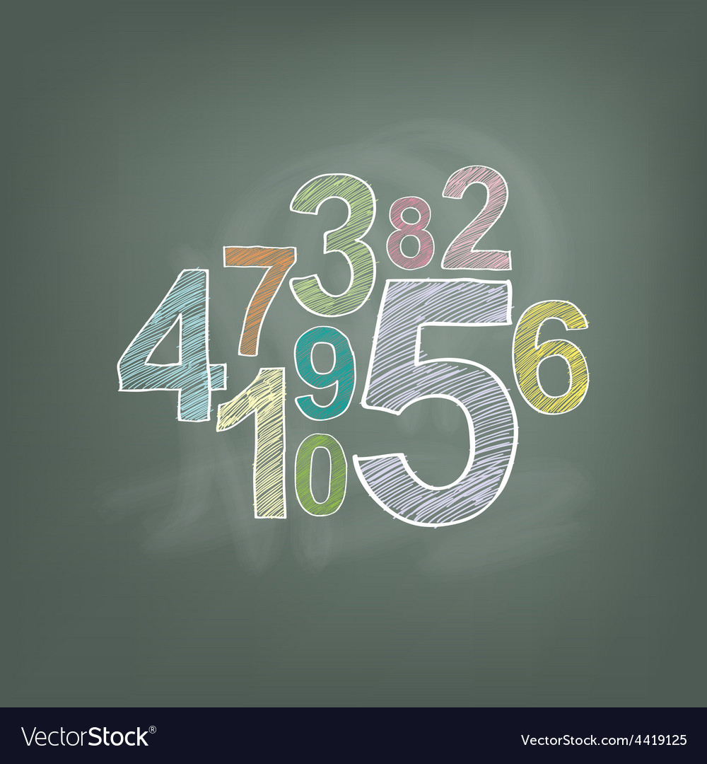 Number on chalkboard vector | Price: 1 Credit (USD $1)