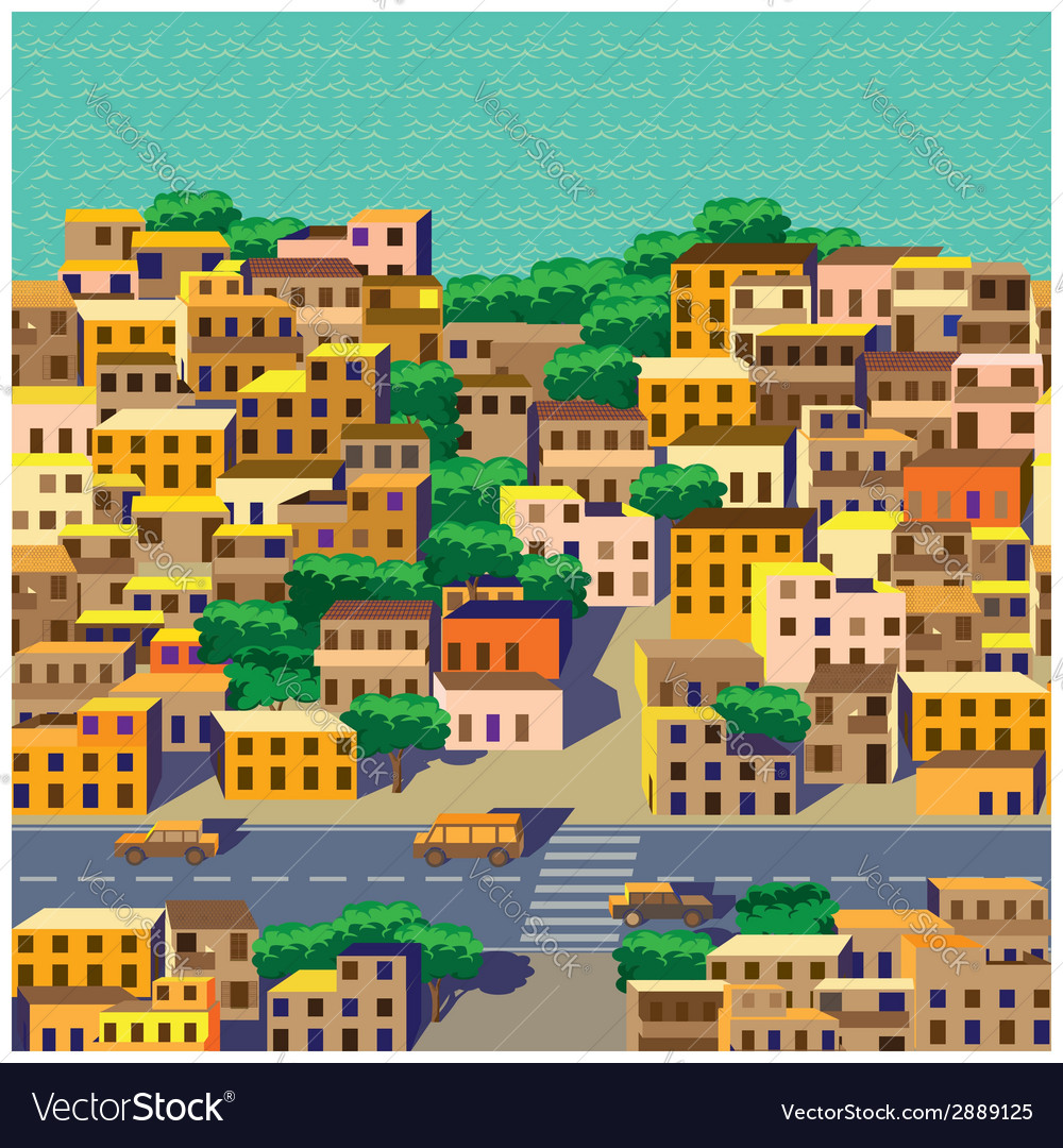 Old district vector | Price: 1 Credit (USD $1)