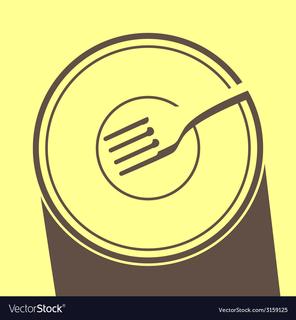 Plate on a table vector | Price: 1 Credit (USD $1)