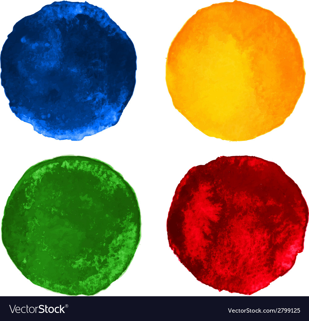 Set of colorful watercolor circular backgrounds vector   Price: 1 Credit (USD $1)