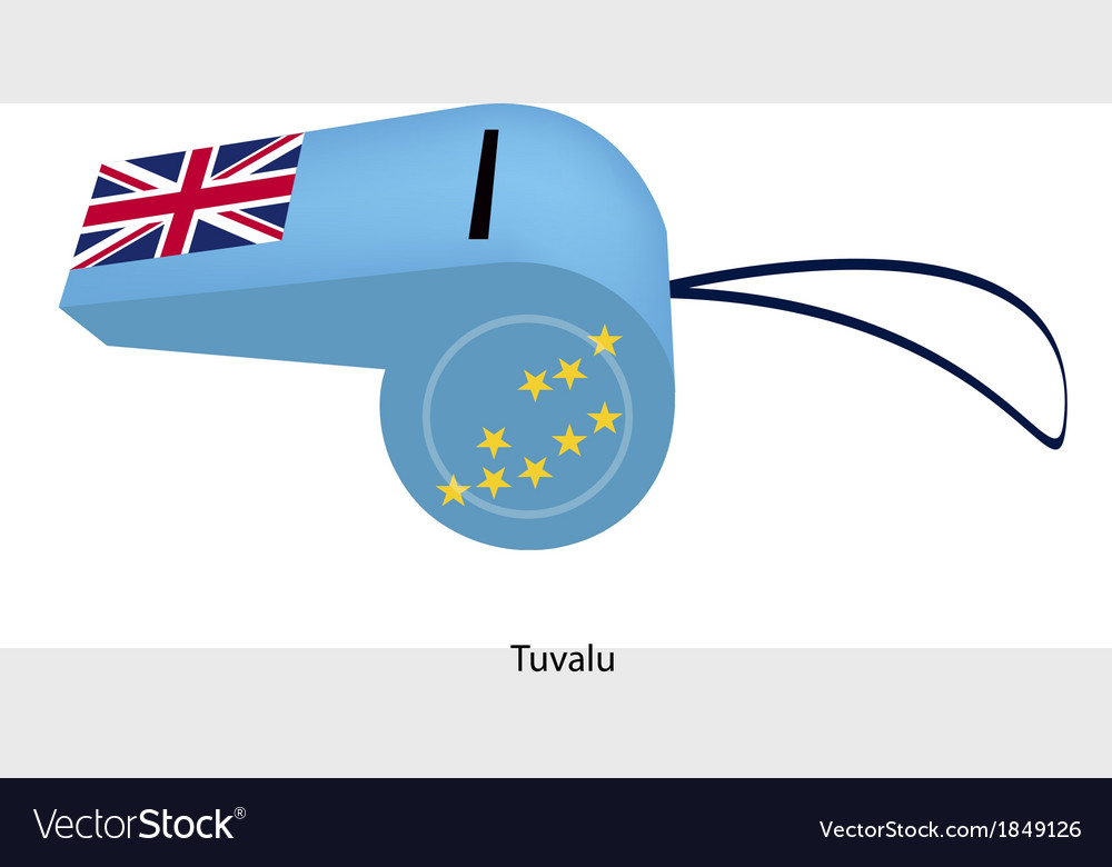 A light blue whistle of tuvalu flag vector | Price: 1 Credit (USD $1)