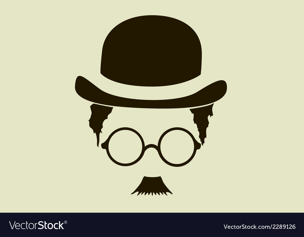 Hat with a mustache and glasses vector | Price: 1 Credit (USD $1)