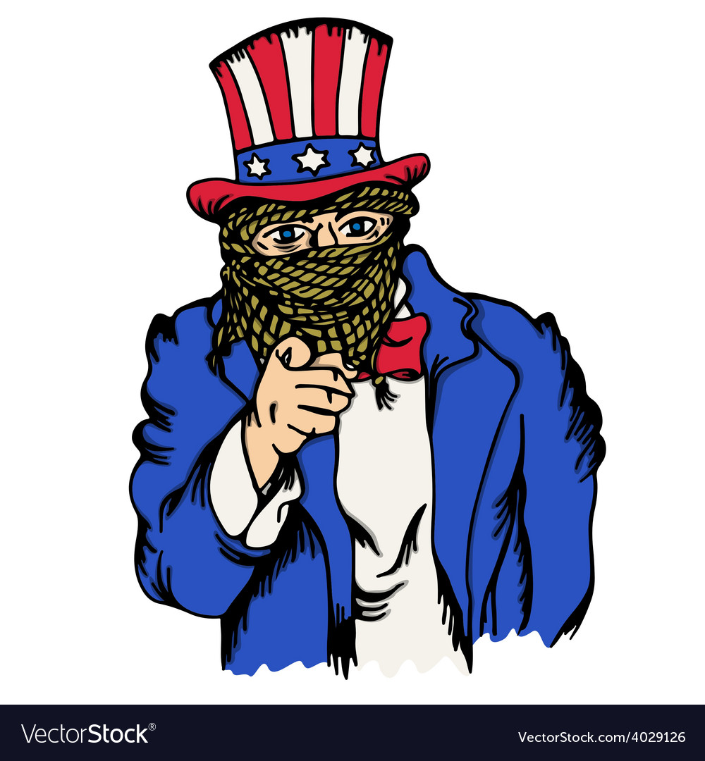 Isolated cartoon the fake doppelganger uncle sam vector | Price: 1 Credit (USD $1)