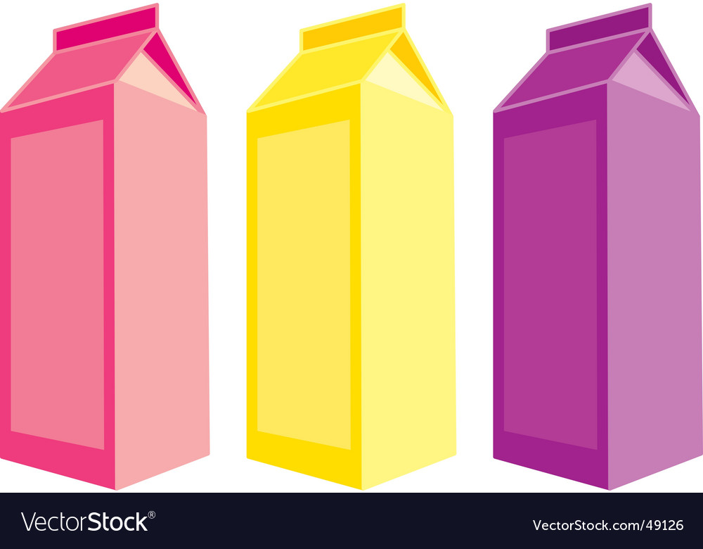 Juice carton boxes vector | Price: 1 Credit (USD $1)