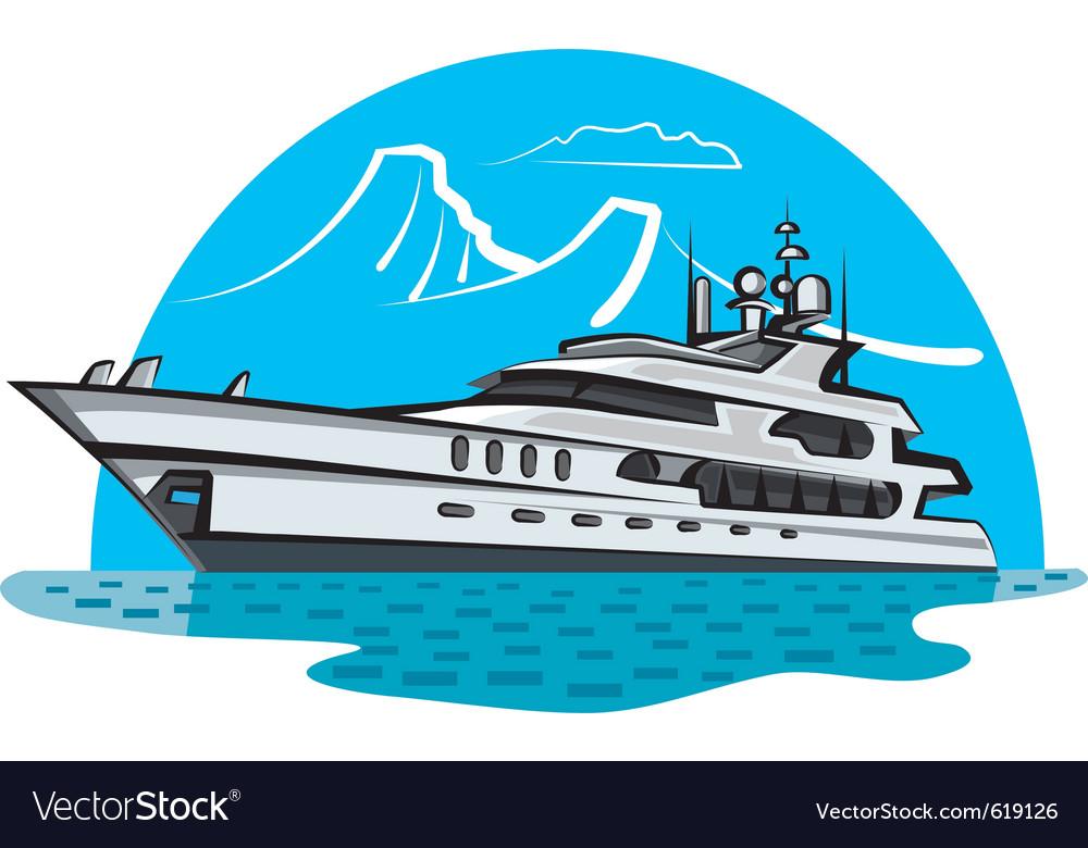 Luxury yacht vector | Price: 3 Credit (USD $3)