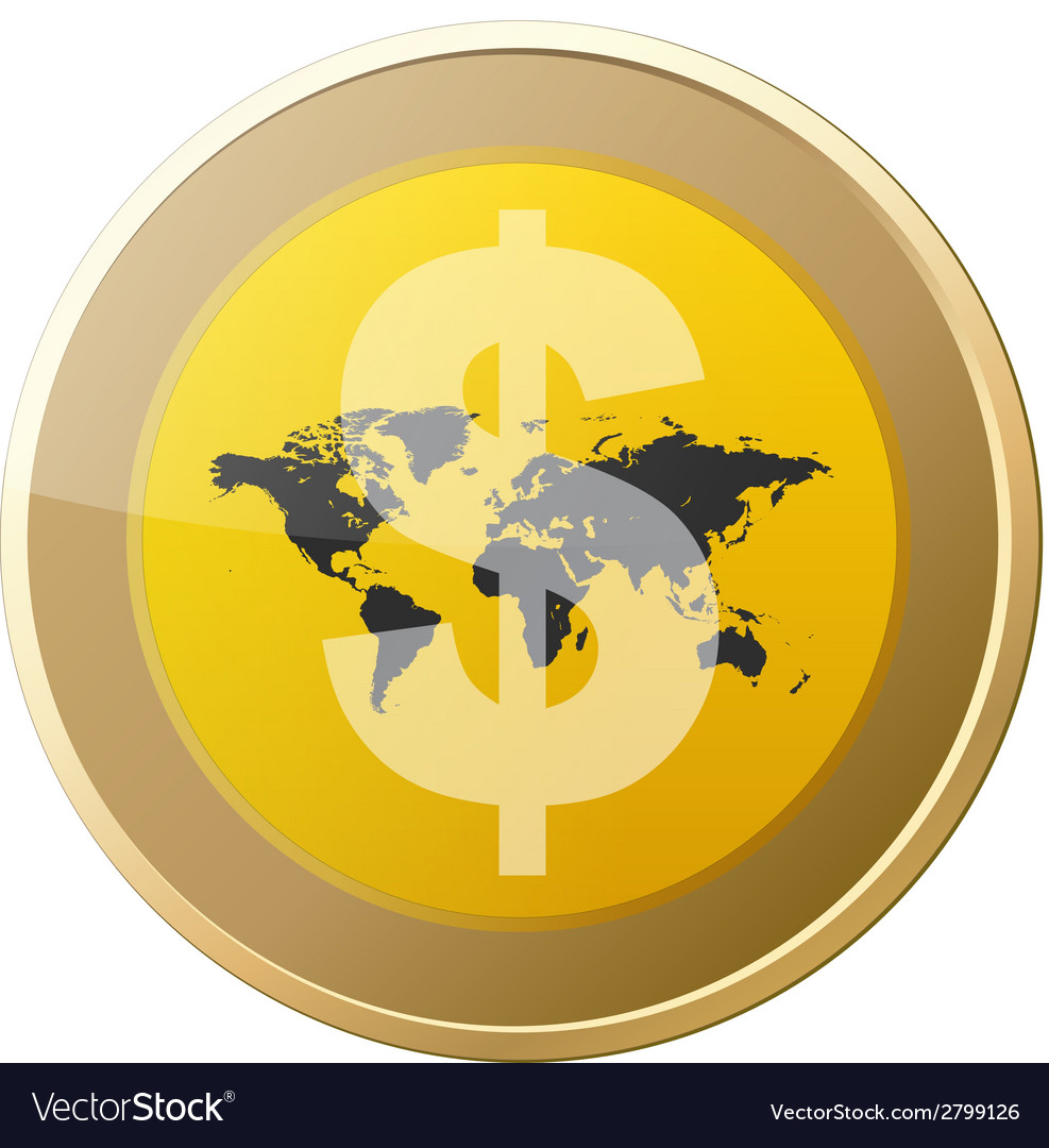 Money coin vector | Price: 1 Credit (USD $1)