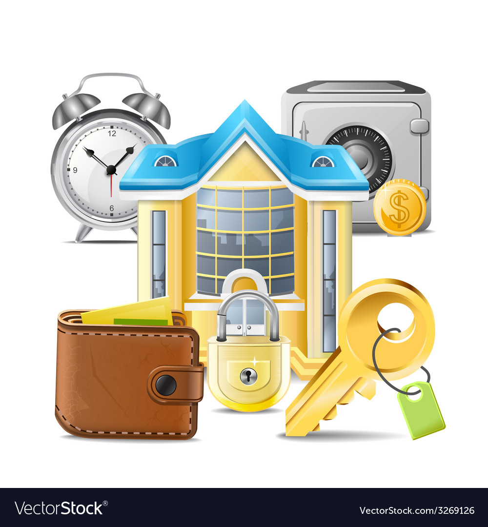 Real estate business icons vector | Price: 3 Credit (USD $3)