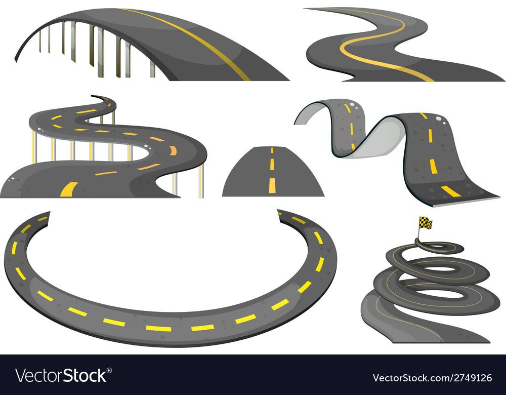 Road set vector | Price: 1 Credit (USD $1)