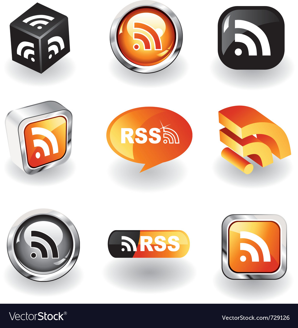 Rss feed icons vector | Price: 1 Credit (USD $1)