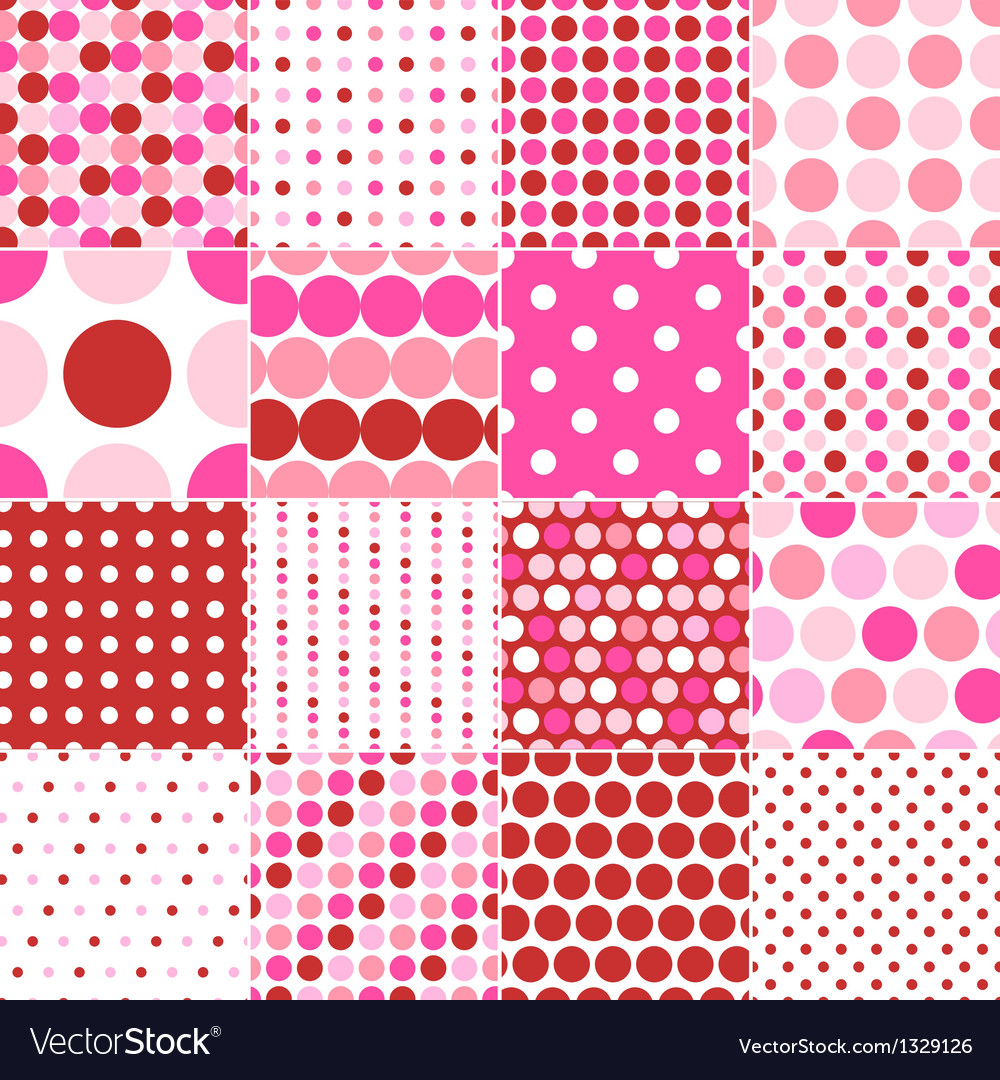 Seamless circular polka dots vector | Price: 3 Credit (USD $3)
