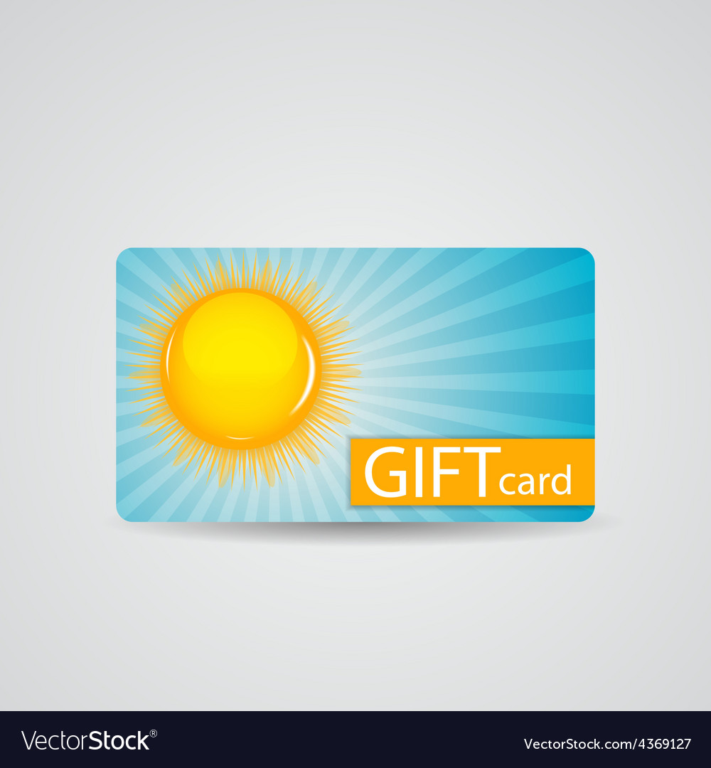 Abstract beautiful sunny gift card design vector | Price: 1 Credit (USD $1)