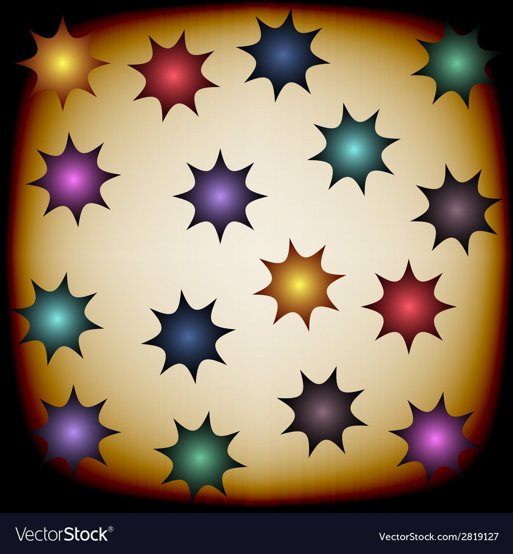Background with color stars vector | Price: 1 Credit (USD $1)