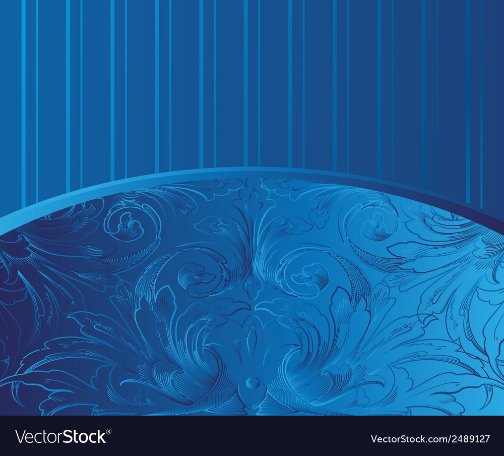 Blue vintage background vector | Price: 1 Credit (USD $1)