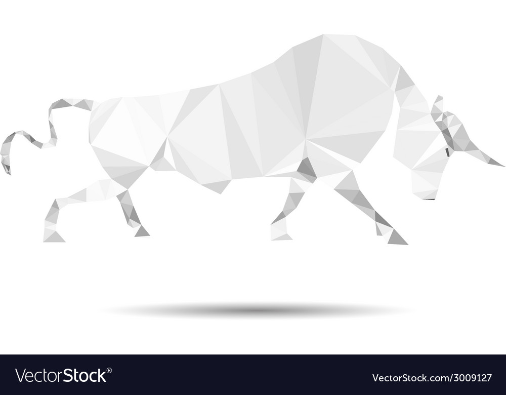 Bull abstract vector | Price: 1 Credit (USD $1)