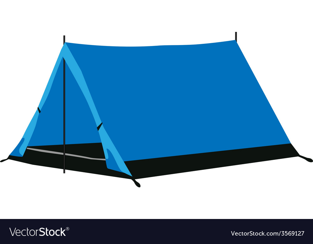 Camping tent blue vector | Price: 1 Credit (USD $1)