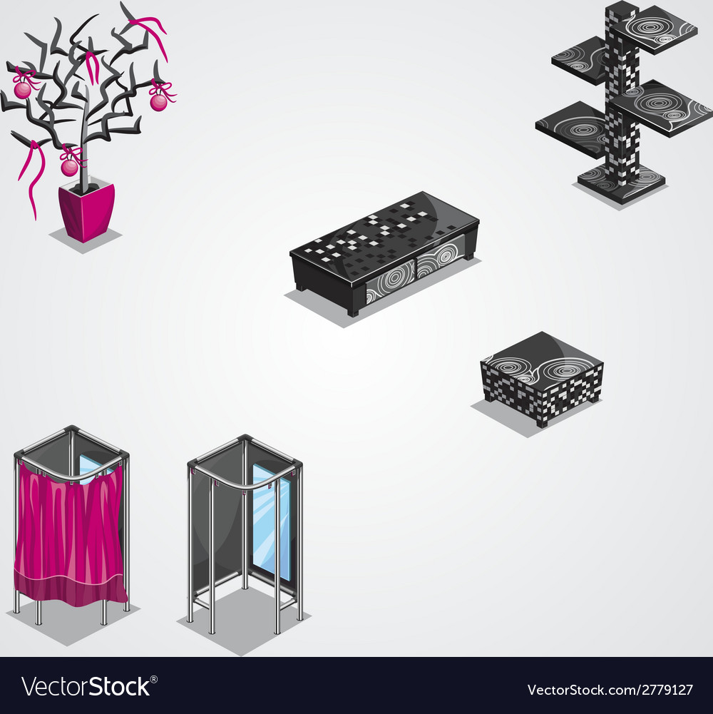 Collection of modern furniture-eps10 vector | Price: 1 Credit (USD $1)