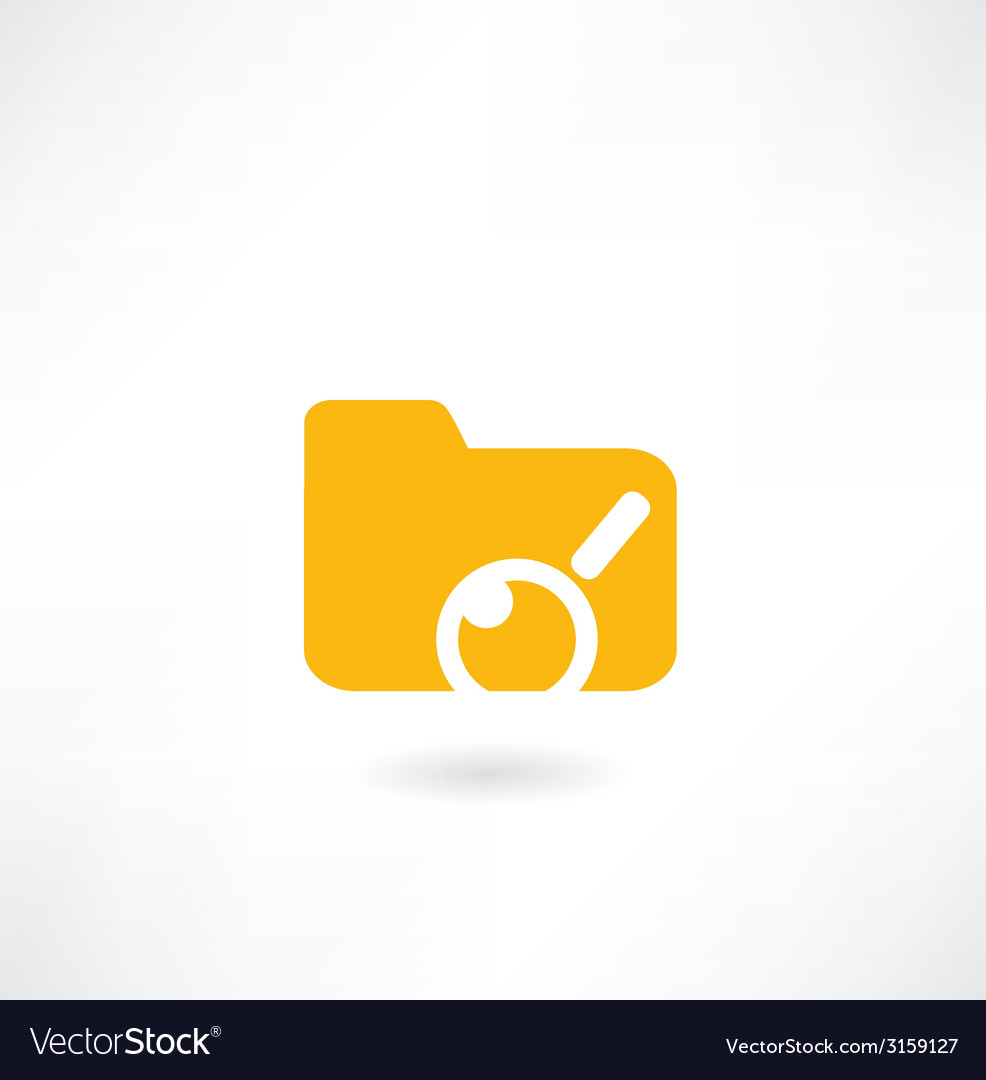 Folder with papers under magnifier icon vector | Price: 1 Credit (USD $1)