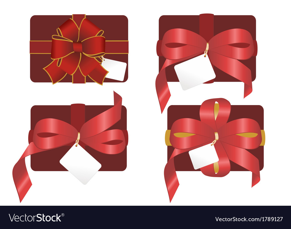 Gift boxes with bows vector | Price: 1 Credit (USD $1)