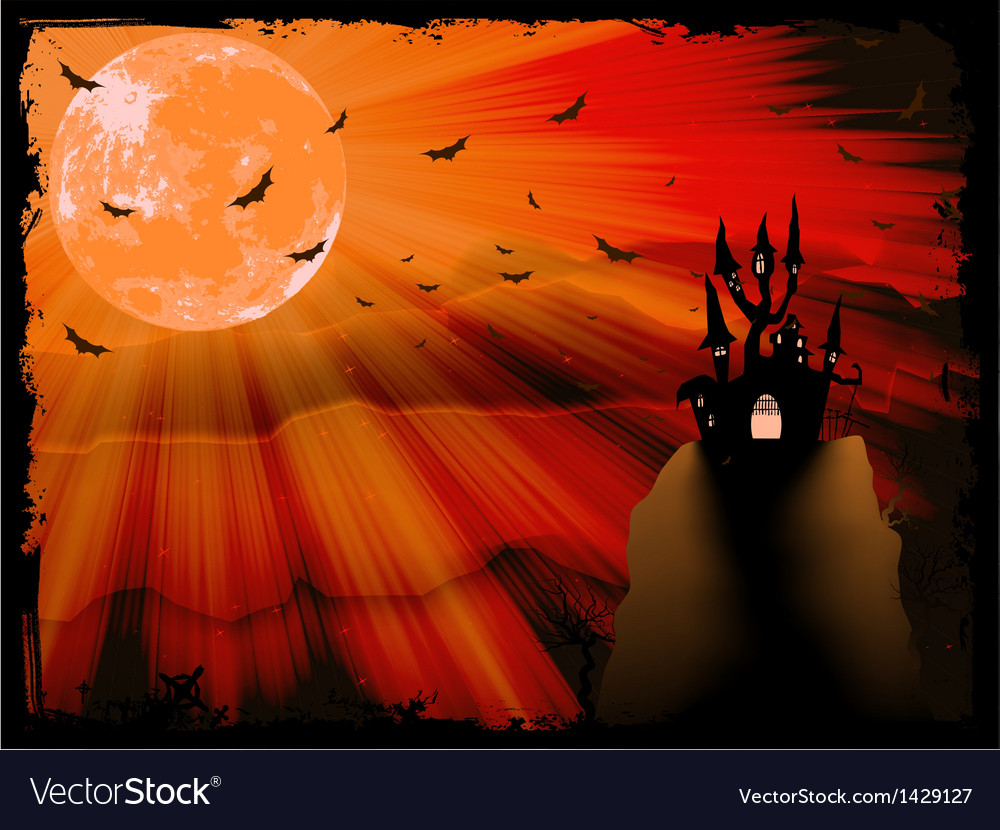 Halloween poster with zombie background eps 10 vector | Price: 1 Credit (USD $1)