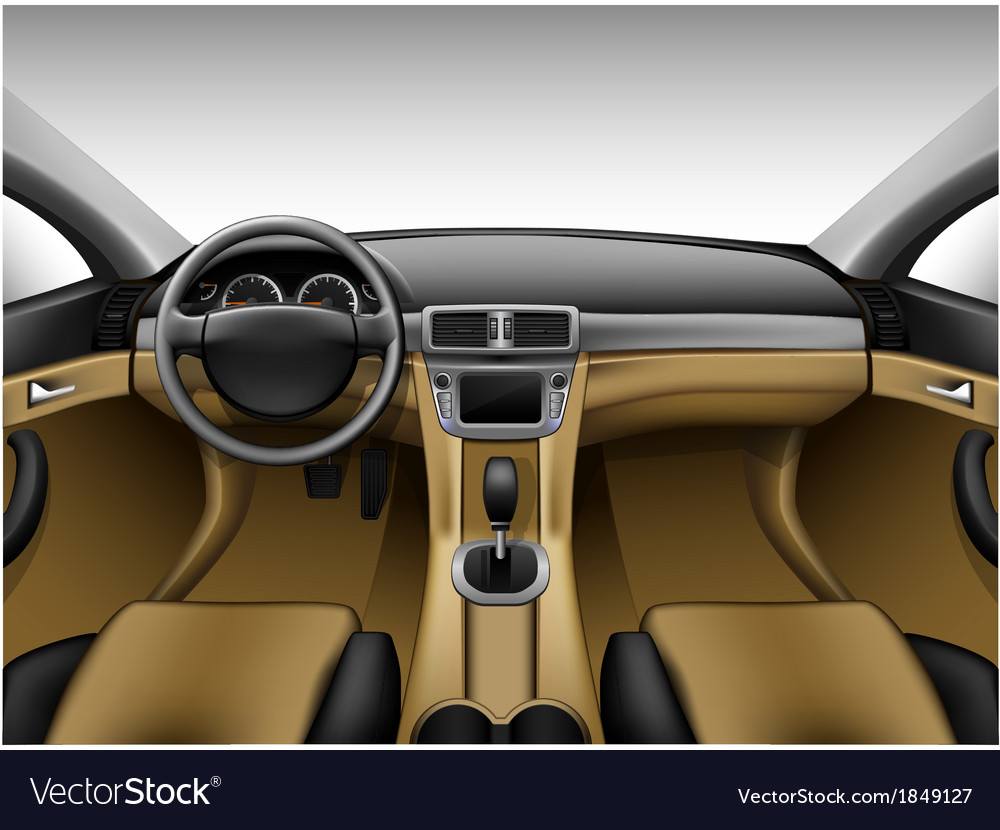 Light beige leather car interior vector | Price: 3 Credit (USD $3)