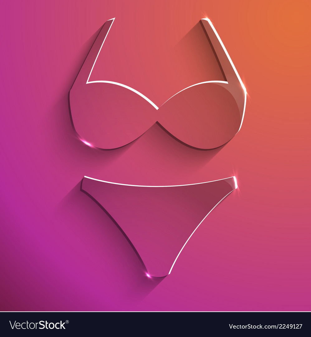 Lingerie sign glass icon vector | Price: 1 Credit (USD $1)